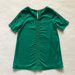 Genuine Kids OshKosh Green Lace Dress Tunic Top 3T
